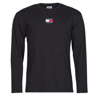 Clothing Men Long sleeved tee-shirts Tommy Jeans TJM LS TOMMY BADGE TEE Black