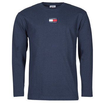 Clothing Men Long sleeved tee-shirts Tommy Jeans TJM LS TOMMY BADGE TEE Marine