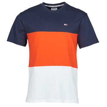 Clothing Men Short-sleeved t-shirts Tommy Jeans TJM CLASSIC COLOR BLOCK TEE Multicolour