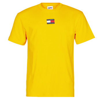 Clothing Men Short-sleeved t-shirts Tommy Jeans TJM TOMMY BADGE TEE Yellow