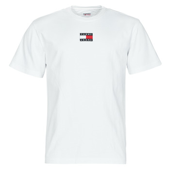 Clothing Men Short-sleeved t-shirts Tommy Jeans TJM TOMMY BADGE TEE White