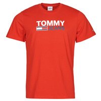 Clothing Men Short-sleeved t-shirts Tommy Jeans TJM CORP LOGO TEE Red