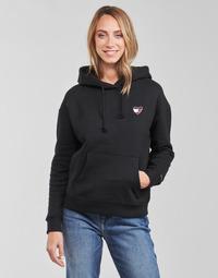 Clothing Women Sweaters Tommy Jeans TJW BXY HOMESPUN HEART HOODIE Black