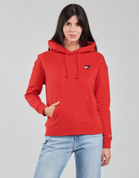 Clothing Women Sweaters Tommy Jeans TJW BXY HOMESPUN HEART HOODIE Red