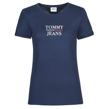 Clothing Women Short-sleeved t-shirts Tommy Jeans TJW SKINNY ESSENTIAL TOMMY T SS Marine