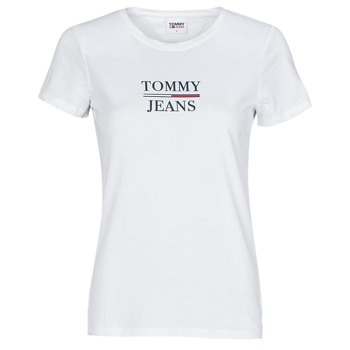 Clothing Women Short-sleeved t-shirts Tommy Jeans TJW SKINNY ESSENTIAL TOMMY T SS White