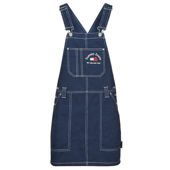 Clothing Women Jumpsuits / Dungarees Tommy Jeans TJW TIMELESS DUNGAREE DRESS Blue / Medium