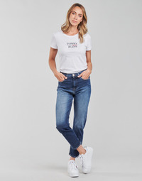 Clothing Women Straight jeans Tommy Jeans IZZIE HR SLIM ANKLE AE632 MBC Marine