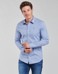 Clothing Men Long-sleeved shirts Tommy Jeans TJM ORIGINAL STRETCH SHIRT Blue