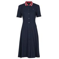 Clothing Women Short Dresses Tommy Hilfiger PIQUE F&F MIDI POLO DRESS SS Marine
