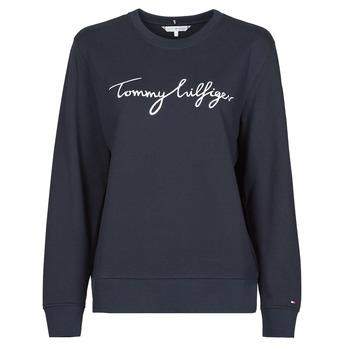 Clothing Women Sweaters Tommy Hilfiger REGULAR GRAPHIC C-NK SWEATSHIRT Marine