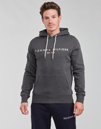 Clothing Men Sweaters Tommy Hilfiger TOMMY LOGO HOODY Grey / Anthracite