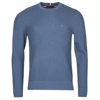 Clothing Men Jumpers Tommy Hilfiger STRUCTURE CREW NECK Blue
