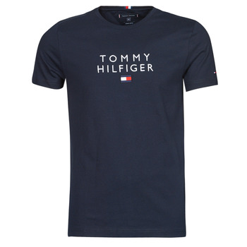 Clothing Men Short-sleeved t-shirts Tommy Hilfiger STACKED TOMMY FLAG TEE Marine