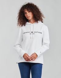Clothing Women Sweaters Tommy Hilfiger HERITAGE HILFIGER HOODIE LS White