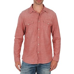Clothing Men long-sleeved shirts Selected Doha shirt ls r J Red