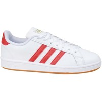 Shoes Men Low top trainers adidas Originals Grand Court Base White, Red