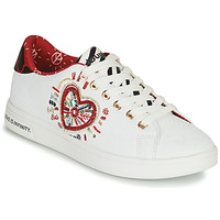 Shoes Women Low top trainers Desigual COSMIC HEART White / Red