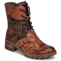 Shoes Women Mid boots Laura Vita COCRAILO Camel / Red