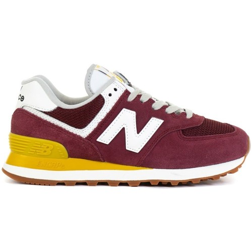 Shoes Women Low top trainers New Balance 574 Burgundy