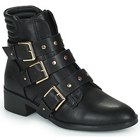 Shoes Women Mid boots Only BRIGHT 15 PU BIKER BOOT Black