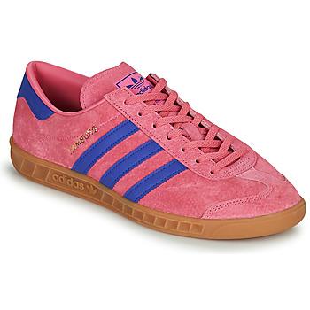 Shoes Low top trainers adidas Originals HAMBURG Pink / Blue