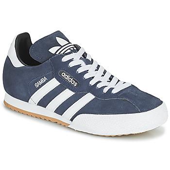 Shoes Men Low top trainers adidas Originals SUPER SUEDE Marine / Blue
