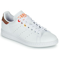 Shoes Women Low top trainers adidas Originals STAN SMITH W White / Striped / Red