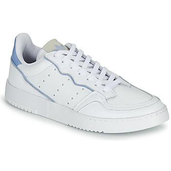 Shoes Low top trainers adidas Originals SUPERCOURT White / Blue