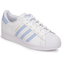 Shoes Women Low top trainers adidas Originals SUPERSTAR White / Green / Clear