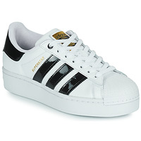Shoes Women Low top trainers adidas Originals SUPERSTAR BOLD W White / Black / Varnish