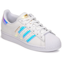 Shoes Women Low top trainers adidas Originals SUPERSTAR W White / Iridescent