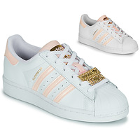 Shoes Women Low top trainers adidas Originals SUPERSTAR W White / Pink / Jewel