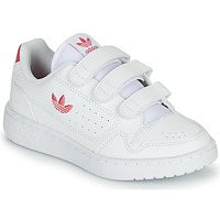 Shoes Girl Low top trainers adidas Originals NY 90  CF C White / Pink