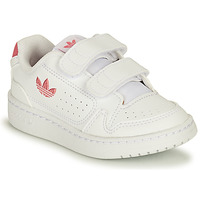 Shoes Girl Low top trainers adidas Originals NY 90 CF I White / Pink