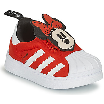Shoes Girl Low top trainers adidas Originals SUPERSTAR 360 I Red / Minnie
