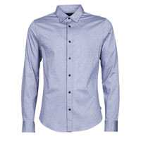 Clothing Men Long-sleeved shirts Scotch & Soda CLASSIC SLIM FIT KNITTED Blue