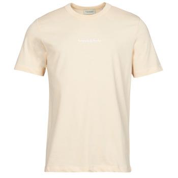 Clothing Men Short-sleeved t-shirts Scotch & Soda GRAPHIC LOGO Beige