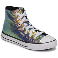 Shoes Girl Hi top trainers Converse CHUCK TAYLOR ALL STAR IRIDESCENT GLITTER HI Silver
