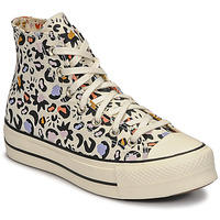 Shoes Women Hi top trainers Converse CHUCK TAYLOR ALL STAR LIFT MYSTIC WORLD HI White / Multicolour