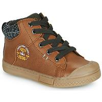 Shoes Boy Hi top trainers Mod'8 HERMIAN Cognac