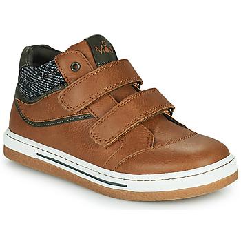 Shoes Boy Hi top trainers Mod'8 KYNATOL Cognac