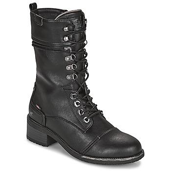 Shoes Women High boots Mustang 1402501 Black