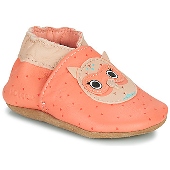 Shoes Girl Baby slippers Robeez OWL THEN Coral