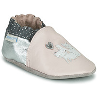 Shoes Girl Baby slippers Robeez CAT FRIENDS Pink / Silver