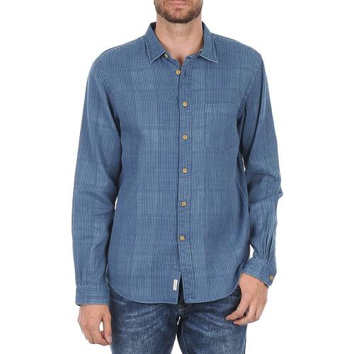 Clothing Men long-sleeved shirts Façonnable JJMCT502000ERE Blue