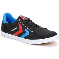 Shoes Low top trainers Hummel TEN STAR LOW CANVAS  BLACK / Brillant / BLUE / Ribbon / RED