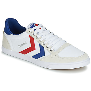 Shoes Low top trainers Hummel SLIMMER STADIL LOW White / Red / Blue