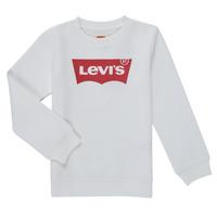 Clothing Boy Sweaters Levi's BATWING CREWNECK SWEATSHIRT White