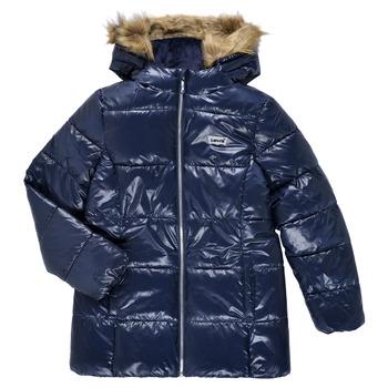 Clothing Girl Duffel coats Levi's FUR PUFFER Marine